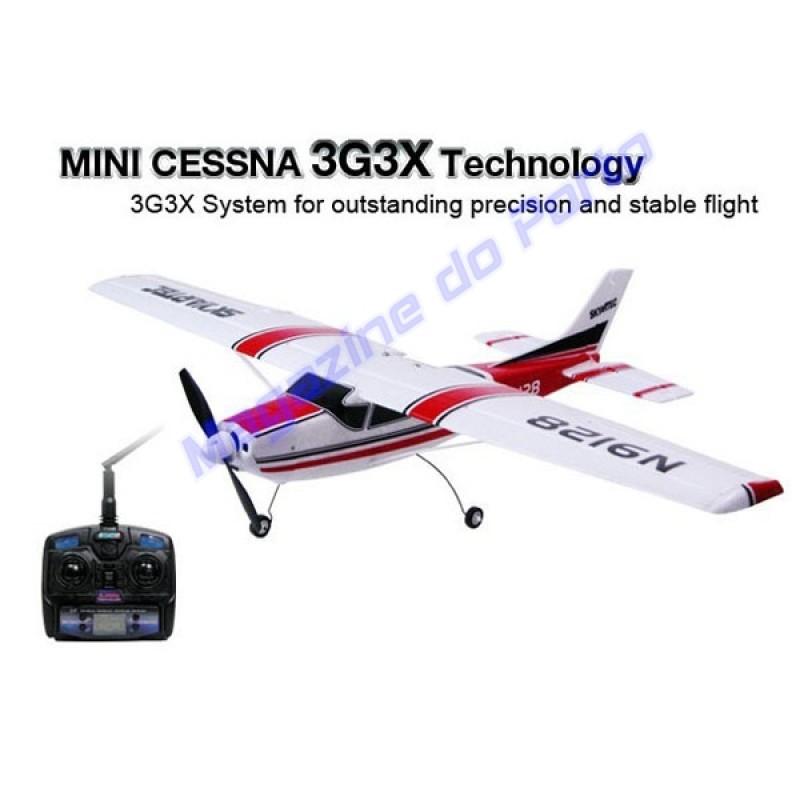 Aeromodelo Cesnna Controle Remoto 2.4GHz. Completo pronto para Voar.