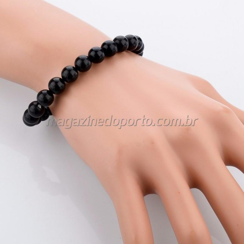 Bracelete em Onyx Negro Natural Thai
