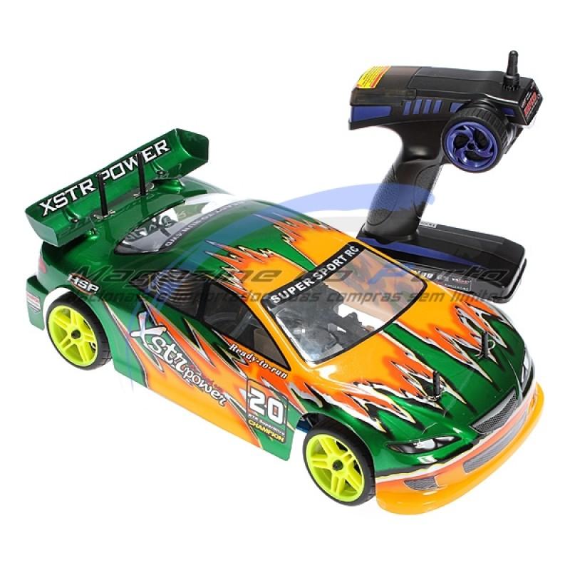 Carro Controle Remoto 4WD On Road Drift Nitro Combustão Automodelo Ultra Veloz!