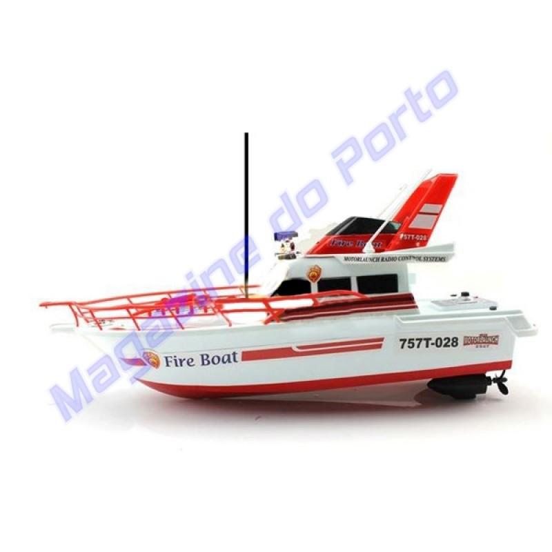 Barco Bombeiro Controle Remoto