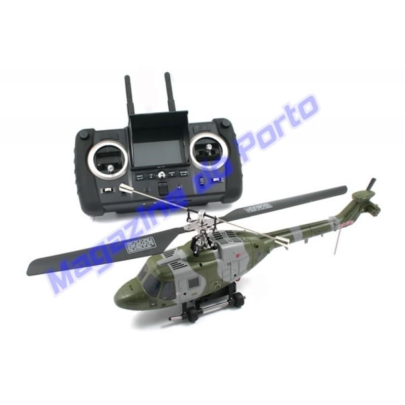 Helicóptero RC FPV Wi-fi Filma/Fotografa e transmite em tempo real para o Controle remoto.