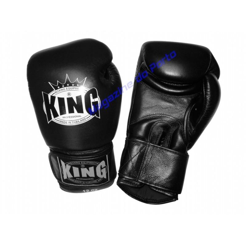 Luva de Muay Thai Profissional King (Preta)