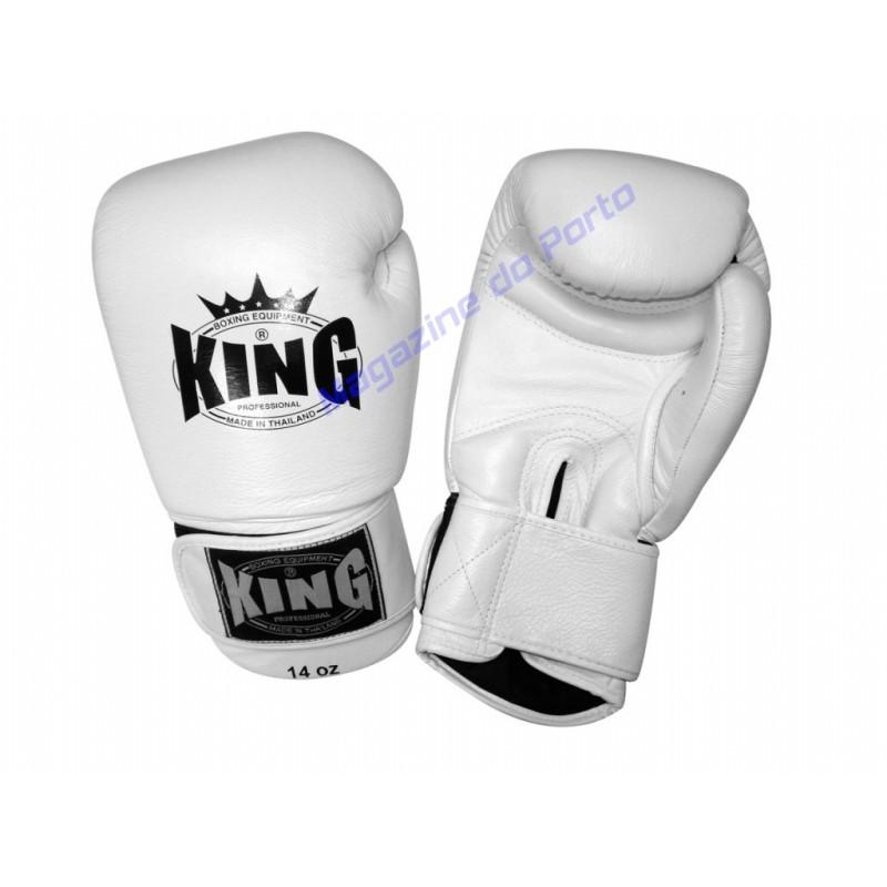 Luva de Muay Thai Profissional King (Branca)