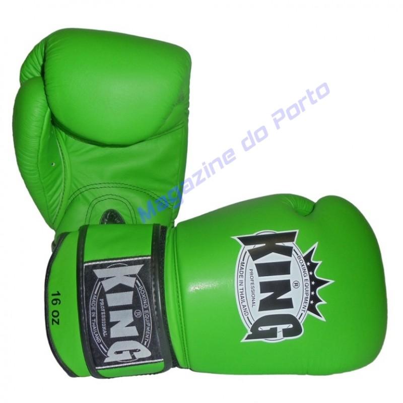 Luva de Muay Thai Profissional King (Verde)