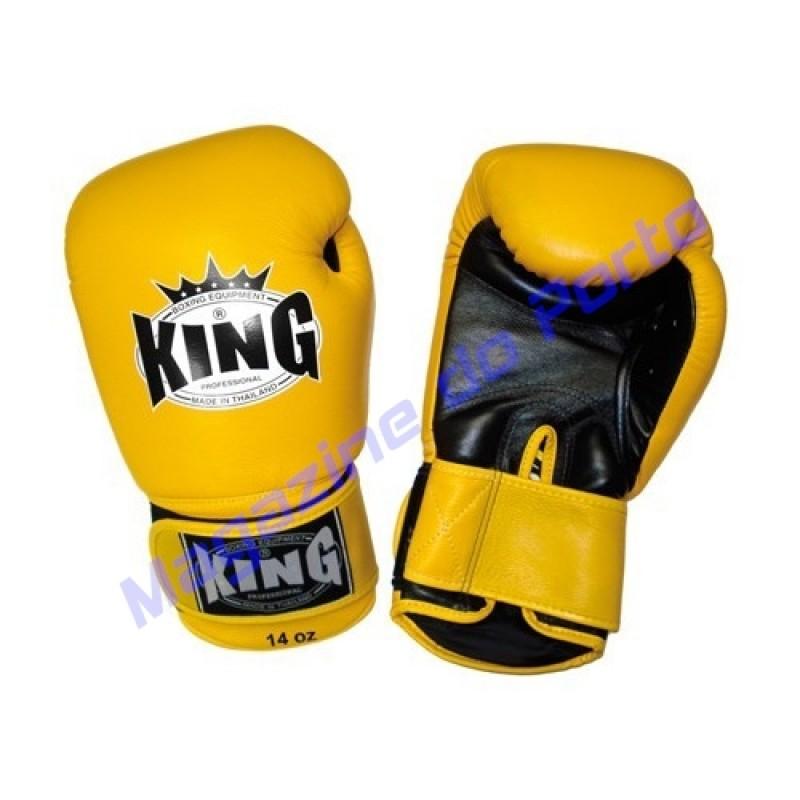 Luva de Muay Thai Profissional King (Amarela e preta)