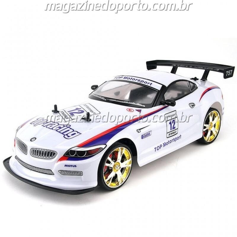 BMW Z4 DRIFT E CORRIDA 1:10 4WD COM LUZES E NEON CONTROLE REMOTO 2.4GHz