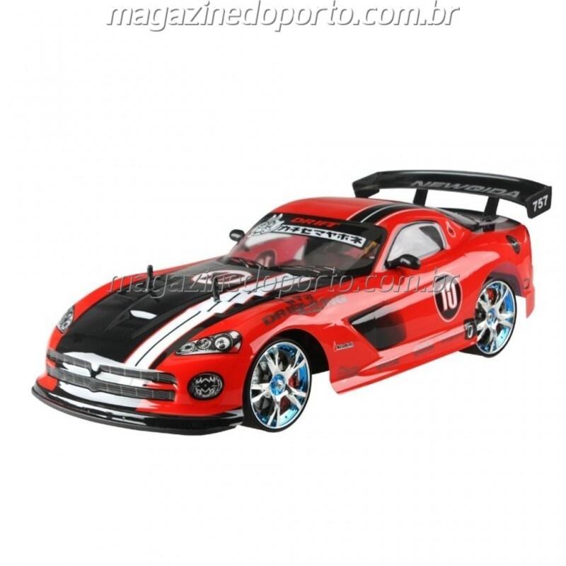 VIPER DRIFT E CORRIDA 1:10 4WD COM LUZES E NEON CONTROLE REMOTO 2.4GHz