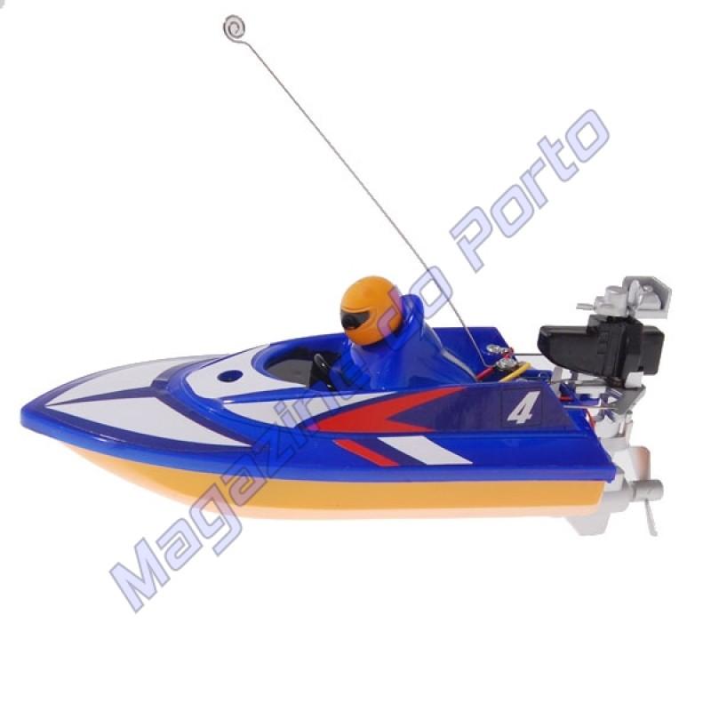 Lancha Controle Remoto 4 canais RC Racing Azul