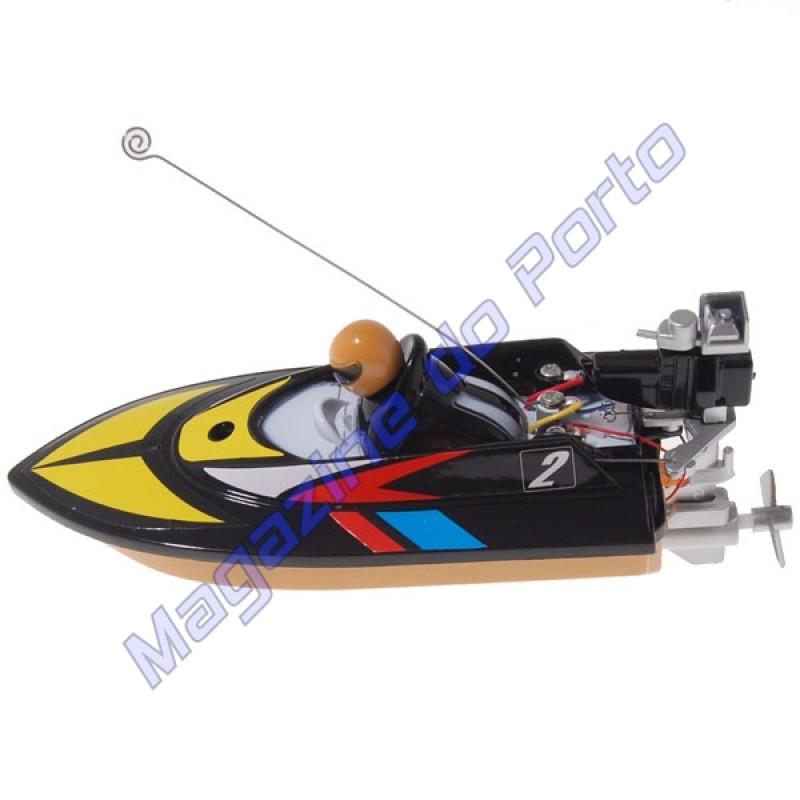 Lancha Controle Remoto 4 canais RC Racing Preto