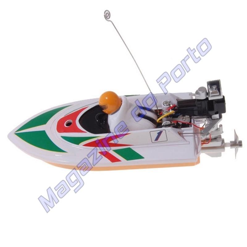 Lancha Controle Remoto 4 canais RC Racing Branco