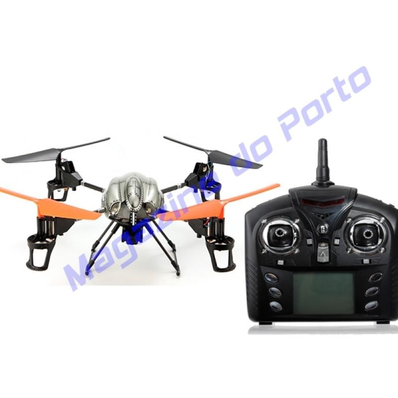 Quadcopter V959 V222 2.4G 6-Eixos 4 Canais Controle Remoto com câmera e luz com upgrade.