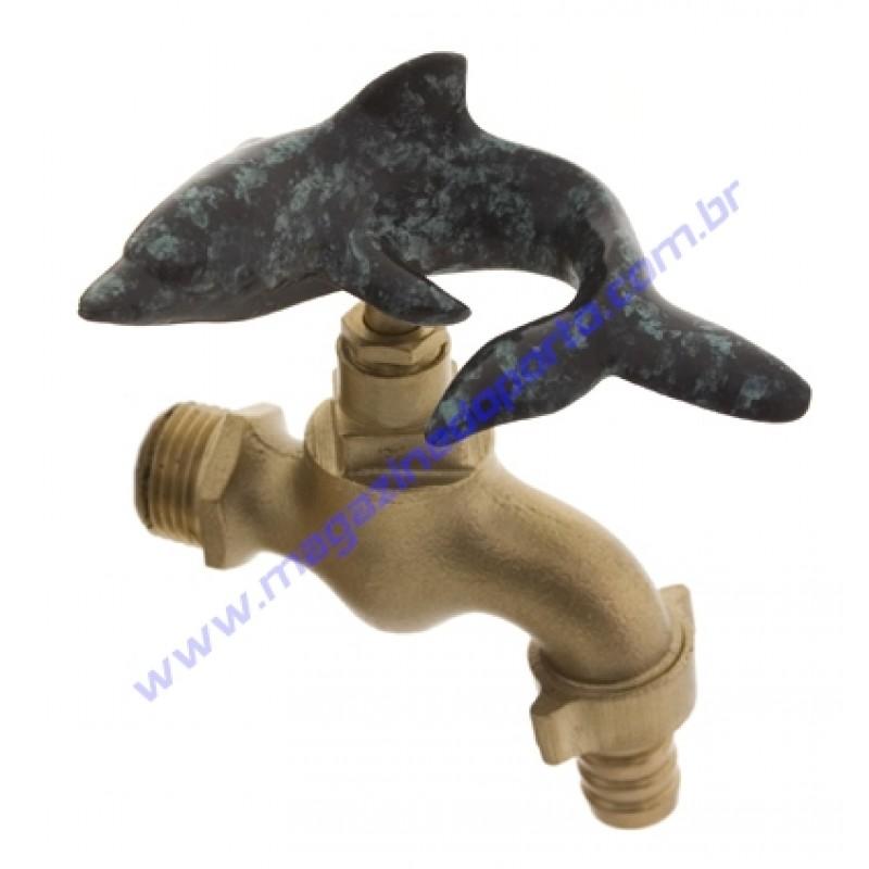 Torneira Tailandesa Personalizada com Decoração (golfinho)
