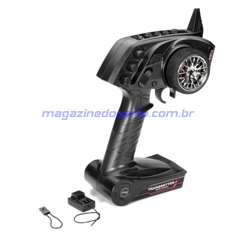 Controle Remoto 3CH Transmissor Com Receptor 2.4Ghz Carro ou Barco