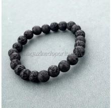 Bracelete Cristal de Rocha Vulcânica Natural Thai