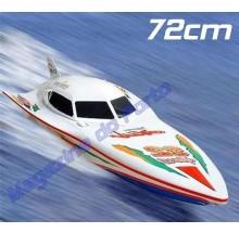Lancha de corrida Controle Remoto de 72cm com 2 motores de Alta Velocidade!