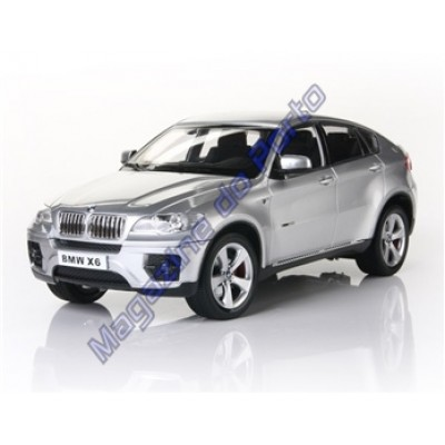 Carro BMW X6 Controle Remoto Licenciado 1:16 6 Canais RC Prata