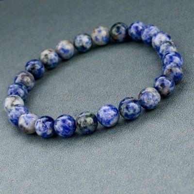 Bracelete Pedra Quartzo Sodalite Natural Thai