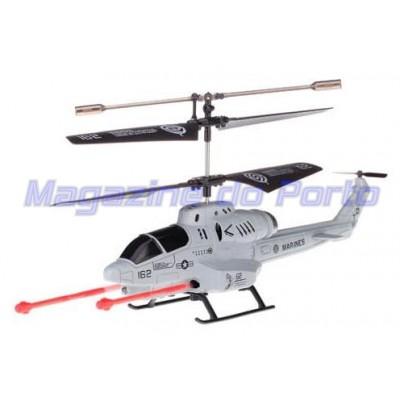 Helicóptero Lança Míssil Controle Remoto RC3.5 Canais com Gyro