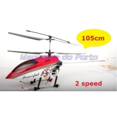 Helicóptero Gigante 1,05m Controle Remoto RC3.5 Canais com Gyro Corpo em Alumínio