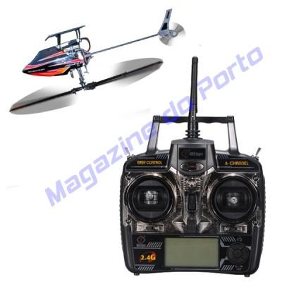 Helicoptero 3D V922 2.4GHz 6 Canais Controle Remoto Pronto para voar