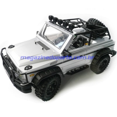 Jeep de Aventura Off Road Crawler Escalador Controle Remoto 2.4GHz 1/10