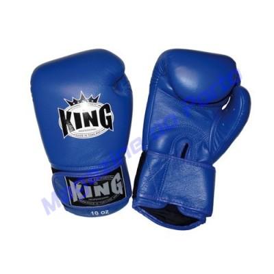 Luva de Muay Thai Profissional King (Azul)
