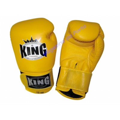 Luva de Muay Thai Profissional King (Amarelo)