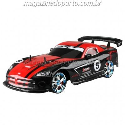 VIPER DRIFT E CORRIDA 1:10 4WD COM LUZES E NEON CONTROLE REMOTO 2.4GHz preto