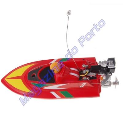 Lancha Controle Remoto 4 canais RC Racing Vermelho