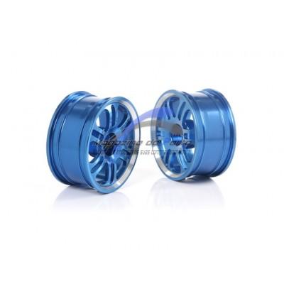 Par de Rodas em alumínio escala 1:10 Para Carro Controle Remoto