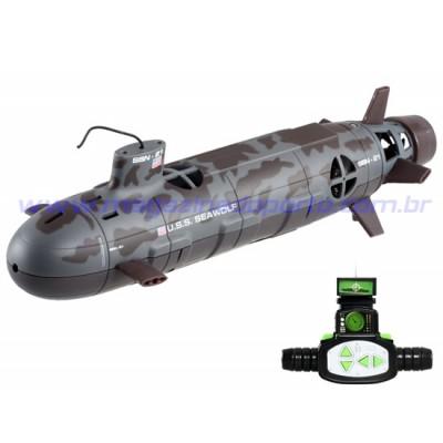 Submarino Nuclear 35cm Controle Remoto 6 Canais com Luz