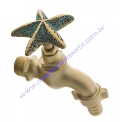 Torneira Tailandesa Personalizada com Decoração (estrela marinha)