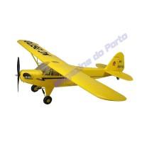 Aeromodelo PIPER J3 Cub Controle Remoto - COMPLETO PRONTO PARA VOAR