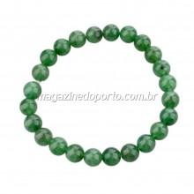 Bracelete Pedra Jade Verde Natural Thai