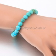 Bracelete Pedra Turquesa Natural Thai